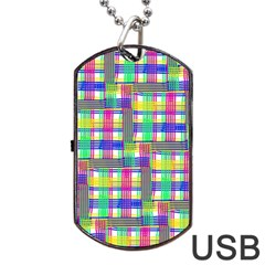 Doodle Pattern Freedom  Dog Tag USB Flash (Two Sides)