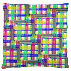 Doodle Pattern Freedom  Large Flano Cushion Cases (one Side)