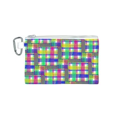 Doodle Pattern Freedom  Canvas Cosmetic Bag (S)