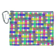 Doodle Pattern Freedom  Canvas Cosmetic Bag (xxl)