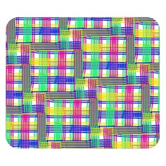 Doodle Pattern Freedom  Double Sided Flano Blanket (small)