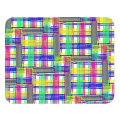 Doodle Pattern Freedom  Double Sided Flano Blanket (Large)