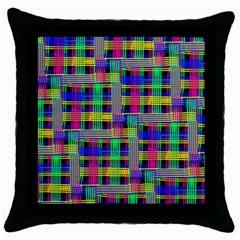Doodle Pattern Freedom Black Throw Pillow Cases (black)