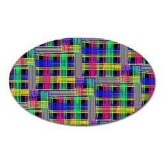 Doodle Pattern Freedom Black Oval Magnet
