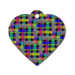 Doodle Pattern Freedom Black Dog Tag Heart (two Sides)