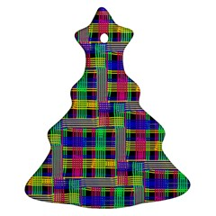 Doodle Pattern Freedom Black Christmas Tree Ornament (2 Sides)
