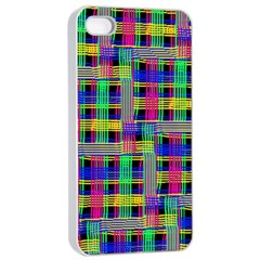 Doodle Pattern Freedom Black Apple Iphone 4/4s Seamless Case (white)