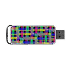 Doodle Pattern Freedom Black Portable USB Flash (Two Sides)