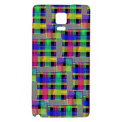 Doodle Pattern Freedom Black Galaxy Note 4 Back Case