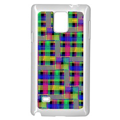 Doodle Pattern Freedom Black Samsung Galaxy Note 4 Case (White)