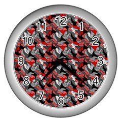 Another Doodle Wall Clocks (silver)