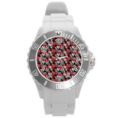Another Doodle Round Plastic Sport Watch (l)