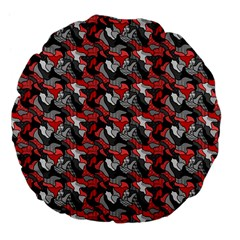 Another Doodle Large 18  Premium Flano Round Cushions