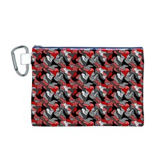 Another Doodle Canvas Cosmetic Bag (m)