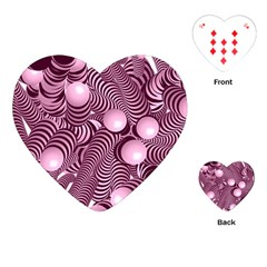 Doodle Fun Pink Playing Cards (Heart)
