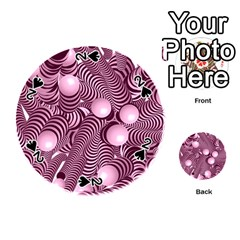 Doodle Fun Pink Playing Cards 54 (Round)