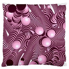 Doodle Fun Pink Large Flano Cushion Cases (two Sides)