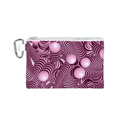 Doodle Fun Pink Canvas Cosmetic Bag (S)