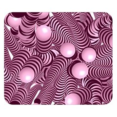 Doodle Fun Pink Double Sided Flano Blanket (small)