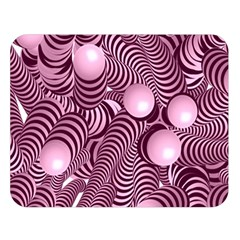 Doodle Fun Pink Double Sided Flano Blanket (large)