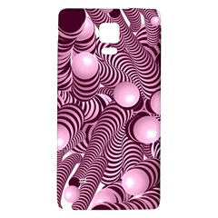 Doodle Fun Pink Galaxy Note 4 Back Case