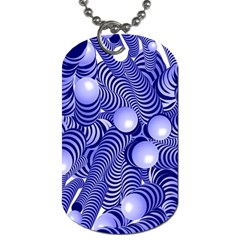 Doodle Fun Blue Dog Tag (one Side)