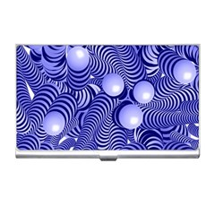 Doodle Fun Blue Business Card Holders