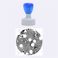 Doodle Fun Blue Rubber Round Stamps (Medium)