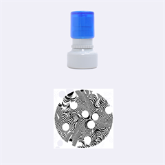 Doodle Fun Blue Rubber Round Stamps (Small)