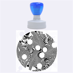 Doodle Fun Blue Rubber Round Stamps (large)