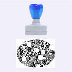 Doodle Fun Blue Rubber Oval Stamps