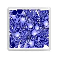 Doodle Fun Blue Memory Card Reader (square)