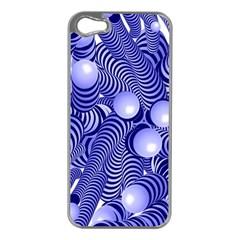 Doodle Fun Blue Apple Iphone 5 Case (silver)