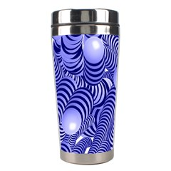 Doodle Fun Blue Stainless Steel Travel Tumblers