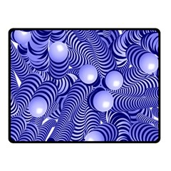 Doodle Fun Blue Double Sided Fleece Blanket (Small)
