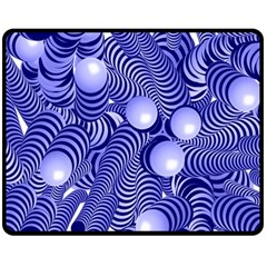 Doodle Fun Blue Double Sided Fleece Blanket (medium)