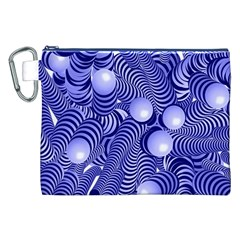 Doodle Fun Blue Canvas Cosmetic Bag (XXL)