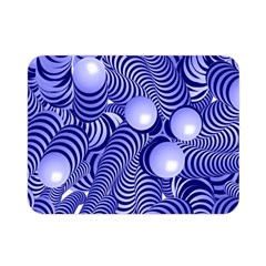 Doodle Fun Blue Double Sided Flano Blanket (Mini)