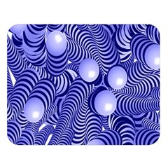 Doodle Fun Blue Double Sided Flano Blanket (Large)