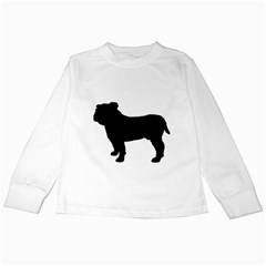 Bulldog Silo Black Kids Long Sleeve T-Shirts