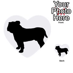 Bulldog Silo Black Multi-purpose Cards (Heart)