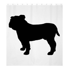 Bulldog Silo Black Shower Curtain 66  x 72  (Large)