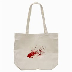 Blood Splatter 1 Tote Bag (Cream)