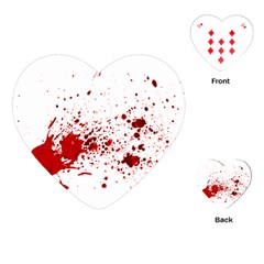 Blood Splatter 1 Playing Cards (Heart)