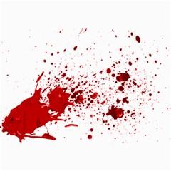 Blood Splatter 1 Collage 12  x 18