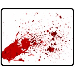 Blood Splatter 1 Fleece Blanket (Medium)