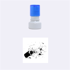 Blood Splatter 1 Rubber Round Stamps (Small)