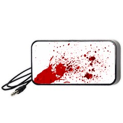 Blood Splatter 1 Portable Speaker (Black)