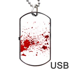 Blood Splatter 1 Dog Tag USB Flash (Two Sides)