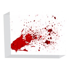 Blood Splatter 1 5 x 7  Acrylic Photo Blocks
